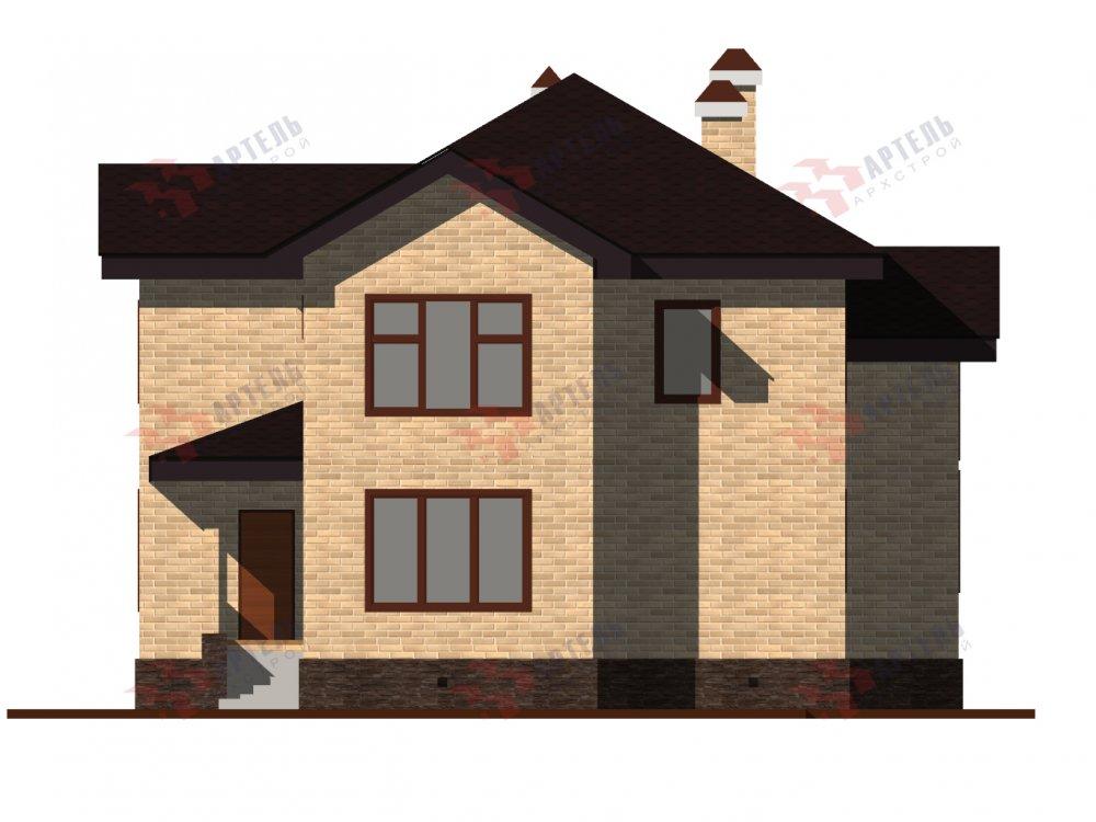 двухэтажный дом омбинированные дома площадью от 150 до 200 кв. м. с  эркером, проект Вариант 10 фотография 6369
