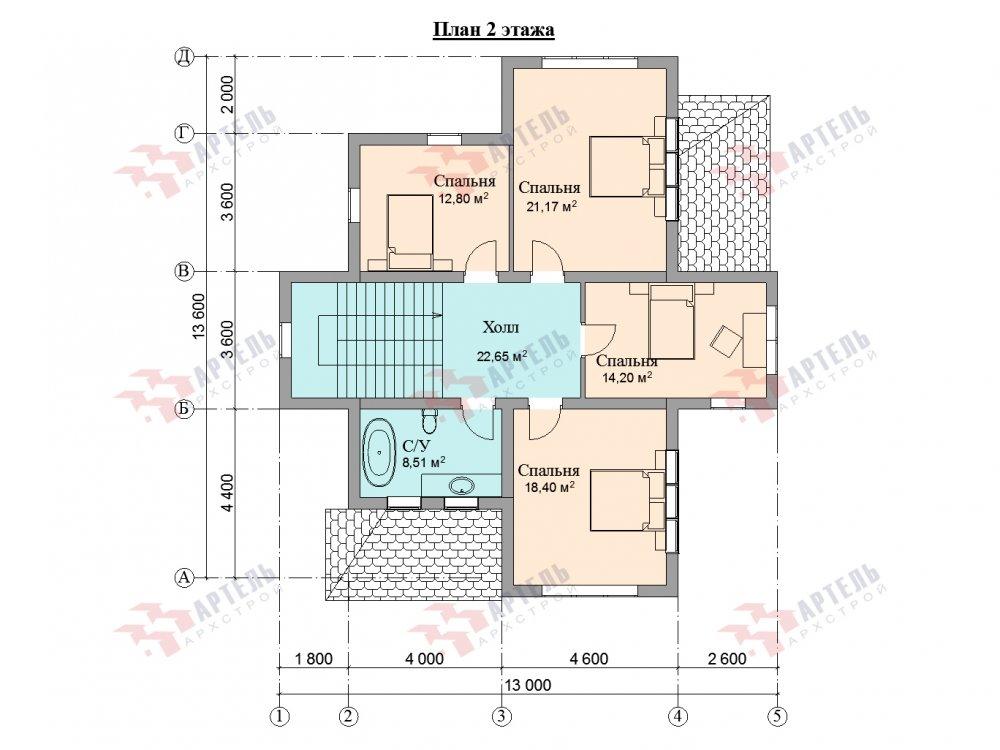 двухэтажный дом омбинированные дома площадью от 150 до 200 кв. м. с  эркером, проект Вариант 10 фотография 6373