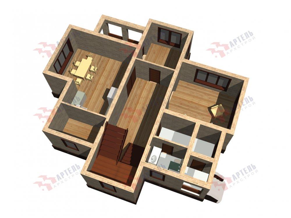 двухэтажный дом омбинированные дома площадью от 150 до 200 кв. м. с  эркером, проект Вариант 10 фотография 6370