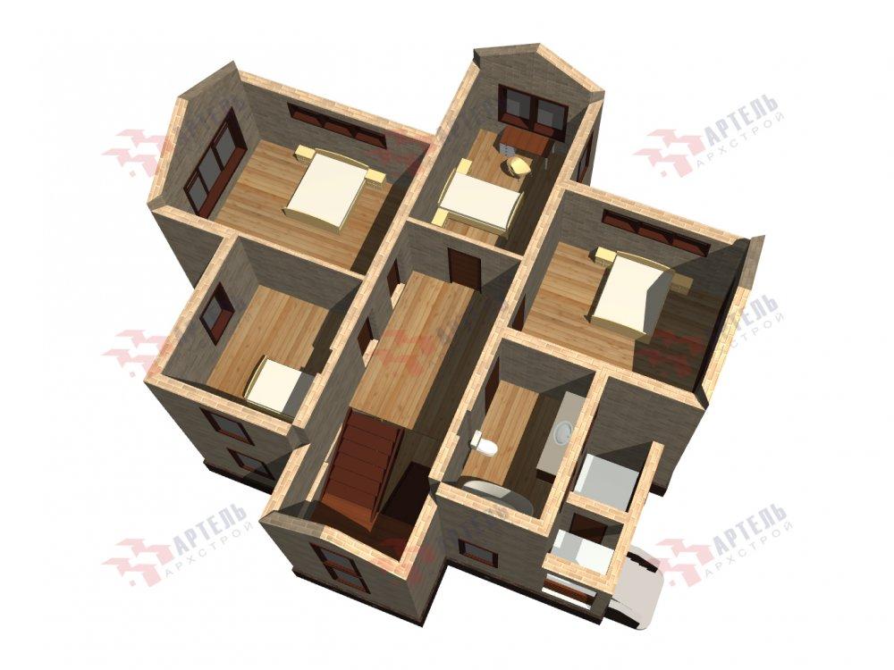 двухэтажный дом омбинированные дома площадью от 150 до 200 кв. м. с  эркером, проект Вариант 10 фотография 6371