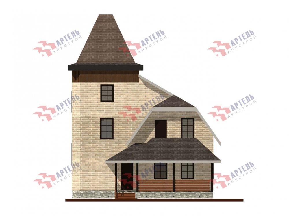 двухэтажный дом из камня площадью от 100 до 150 кв. м. с  балконом, террасой, эркером, проект Вариант 5 фотография 6006