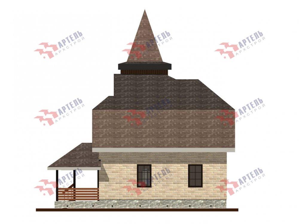 двухэтажный дом из камня площадью от 100 до 150 кв. м. с  балконом, террасой, эркером, проект Вариант 5 фотография 6007