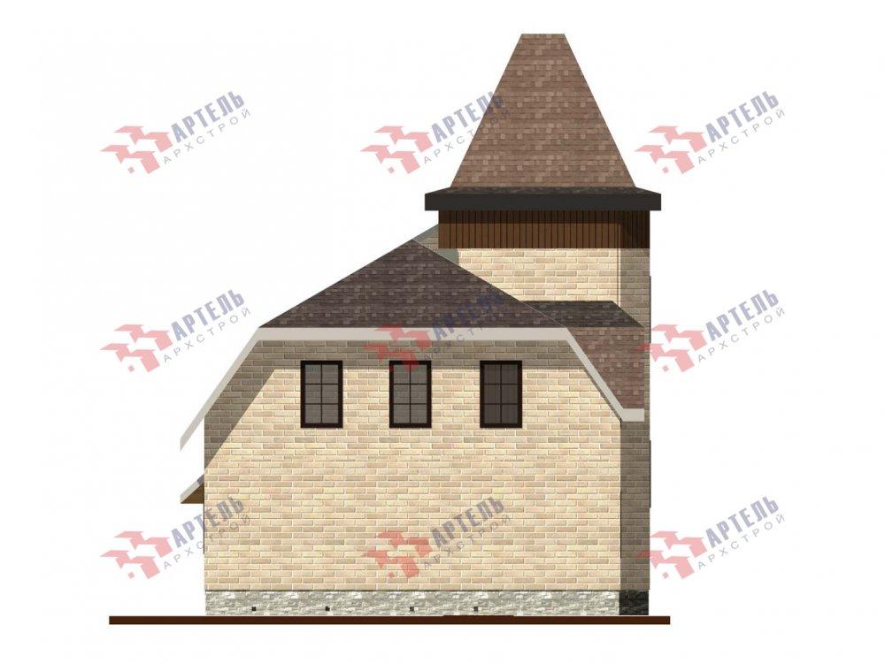 двухэтажный дом из камня площадью от 100 до 150 кв. м. с  балконом, террасой, эркером, проект Вариант 5 фотография 6008