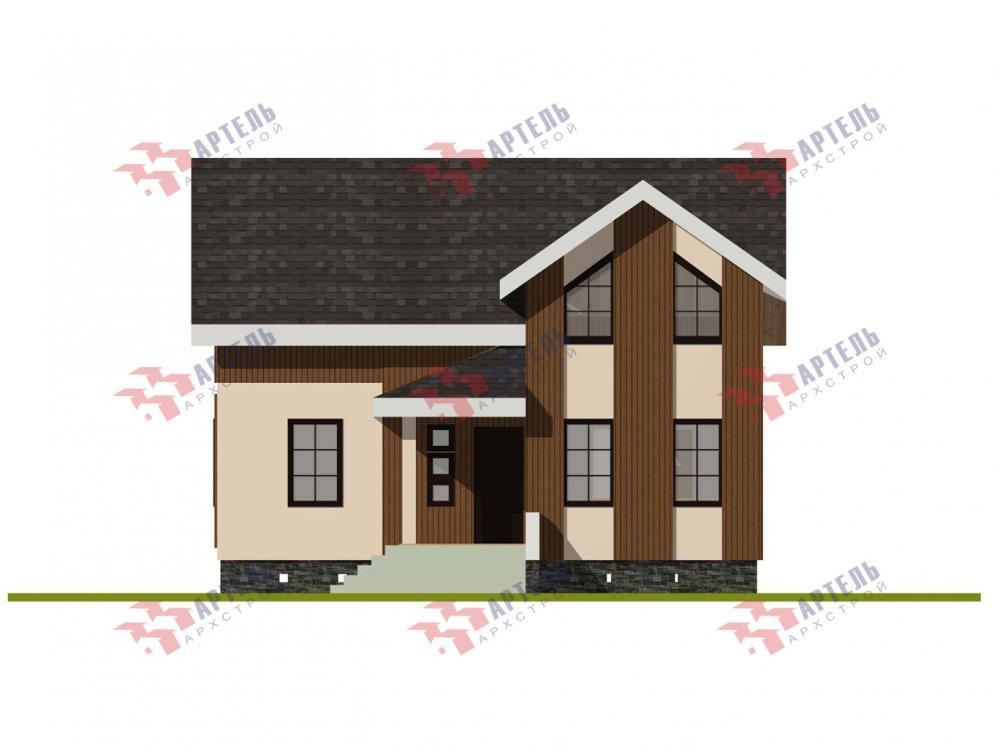 двухэтажный дом омбинированные дома площадью от 100 до 150 кв. м. с  эркером, проект Вариант 9 фотография 6011