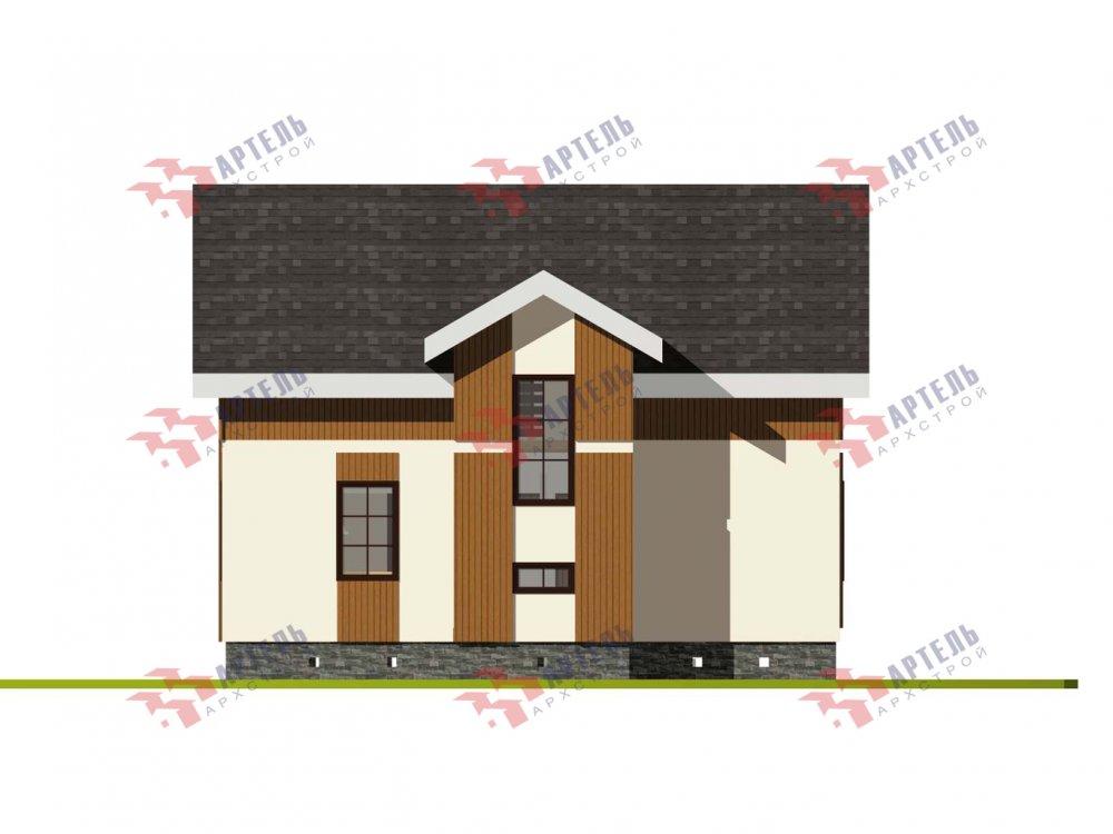 двухэтажный дом омбинированные дома площадью от 100 до 150 кв. м. с  эркером, проект Вариант 9 фотография 6013