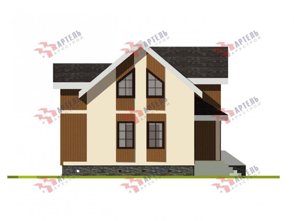 двухэтажный дом омбинированные дома площадью от 100 до 150 кв. м. с  эркером, проект Вариант 9 фотография 6014