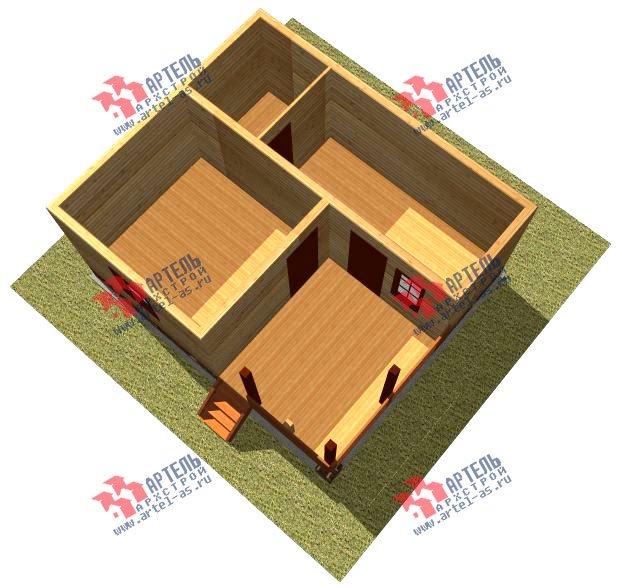 одноэтажный дом из профилированного бруса площадью до 100 кв. м., проект Вариант 6 фотография 2317