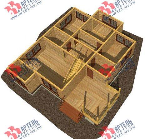 двухэтажный дом из бруса площадью от 150 до 200 кв. м. с  мансардой, террасой, эркером, проект Вариант 14 В фотография 2337