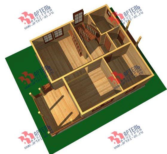 двухэтажный дом из бруса площадью от 100 до 150 кв. м. с  балконом, мансардой, террасой, проект Вариант 8 М фотография 2370