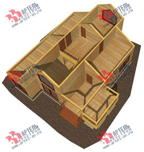 двухэтажный дом из бруса площадью от 150 до 200 кв. м. с  мансардой, террасой, эркером, проект Вариант 14 В фотография 2338