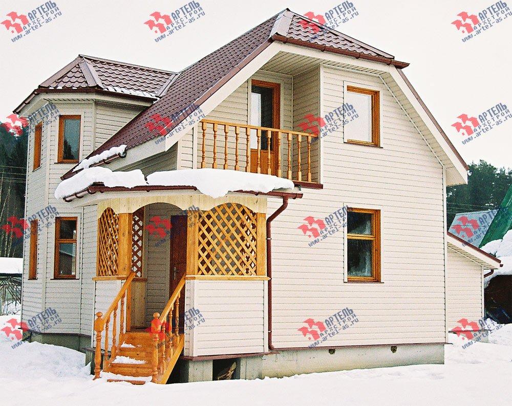 дом из профилированного бруса построенный по проекту Вариант 6 К фотография 3021