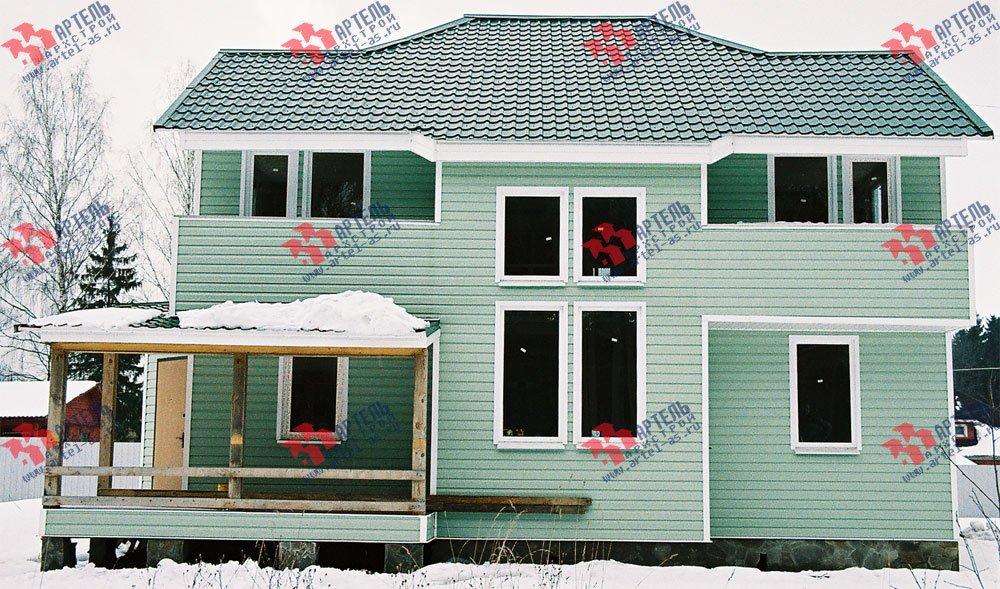 дом из профилированного бруса построенный по проекту Вариант 10.5 А фотография 3018