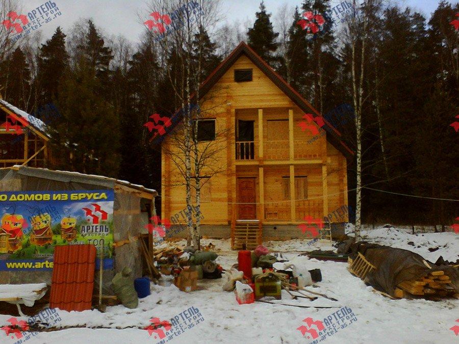 дом из бруса построенный по проекту Вариант 8 Ф фотография 3341
