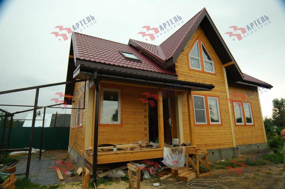 дом из профилированного бруса построенный по проекту Вариант 10.5 В фотография 5171