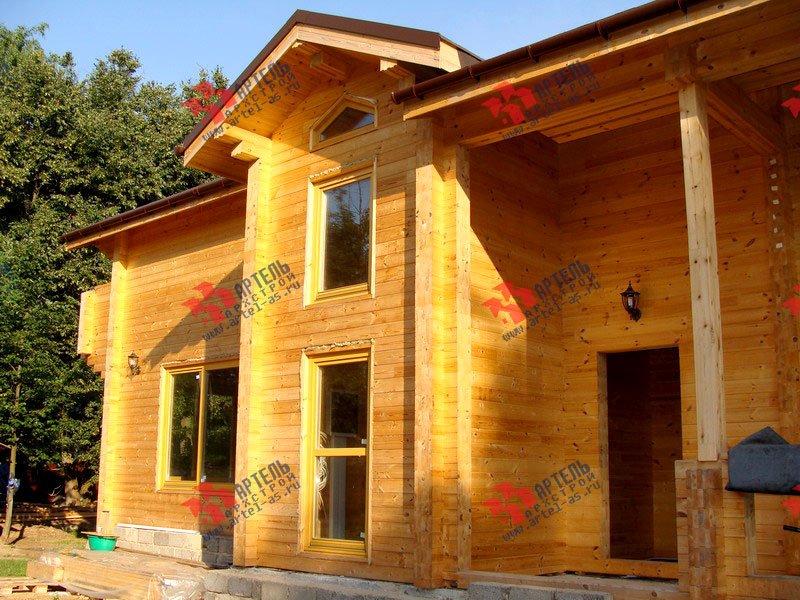 дом из бруса построенный по проекту Вариант 11.4 А фотография 1886