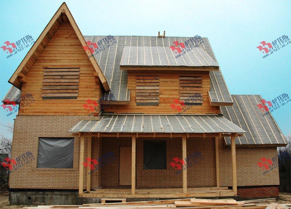 дом омбинированные дома построенный по проекту Вариант 10.2 А Камень и Комбинированный фотография 5699