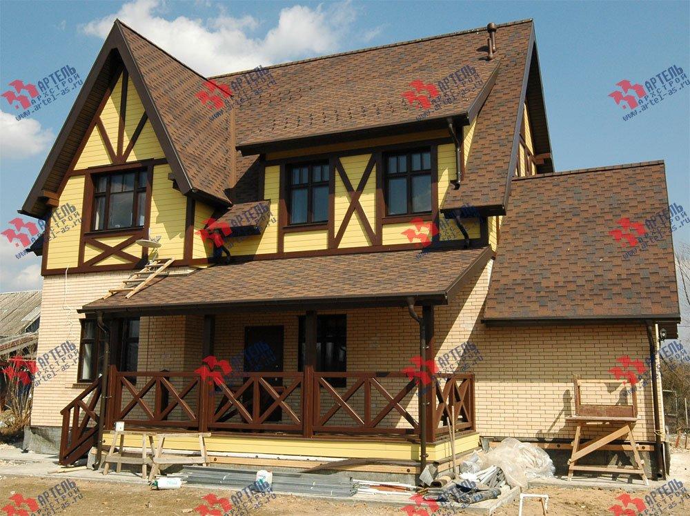 дом омбинированные дома построенный по проекту Вариант 10.2 А Камень и Комбинированный фотография 5700