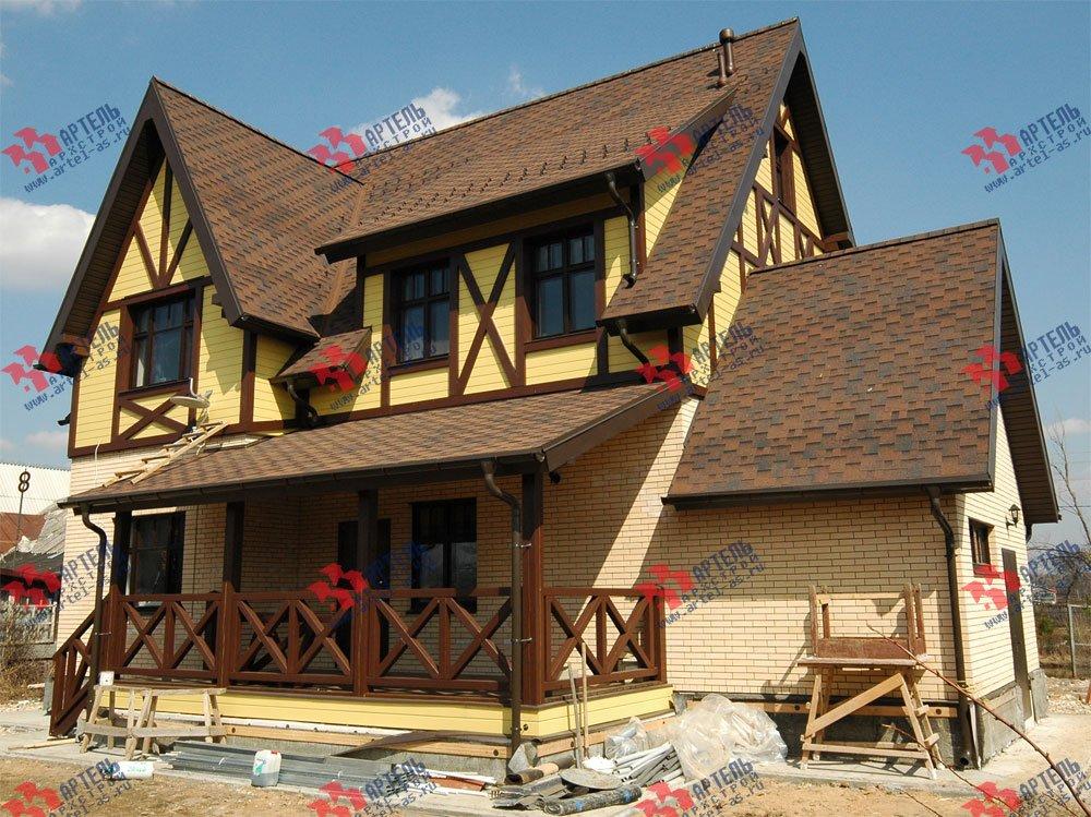дом омбинированные дома построенный по проекту Вариант 10.2 А Камень и Комбинированный фотография 5701