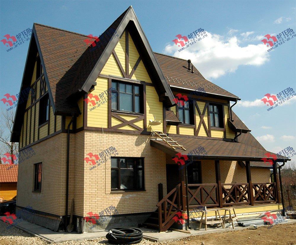 дом омбинированные дома построенный по проекту Вариант 10.2 А Камень и Комбинированный фотография 5702