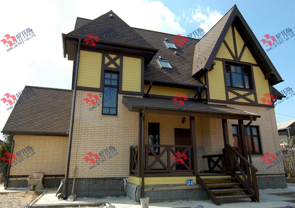 дом омбинированные дома построенный по проекту Вариант 10.2 А Камень и Комбинированный фотография 5703