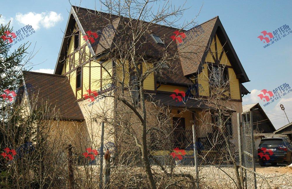 дом омбинированные дома построенный по проекту Вариант 10.2 А Камень и Комбинированный фотография 5704