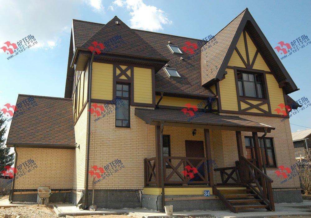 дом омбинированные дома построенный по проекту Вариант 10.2 А Камень и Комбинированный фотография 5705
