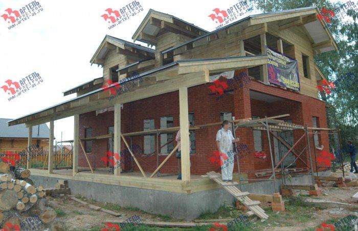 дом омбинированные дома построенный по проекту Вариант 26 Камень и Комбинированный фотография 5715