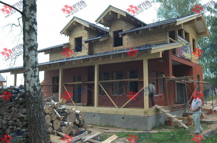 дом омбинированные дома построенный по проекту Вариант 26 Камень и Комбинированный фотография 5716