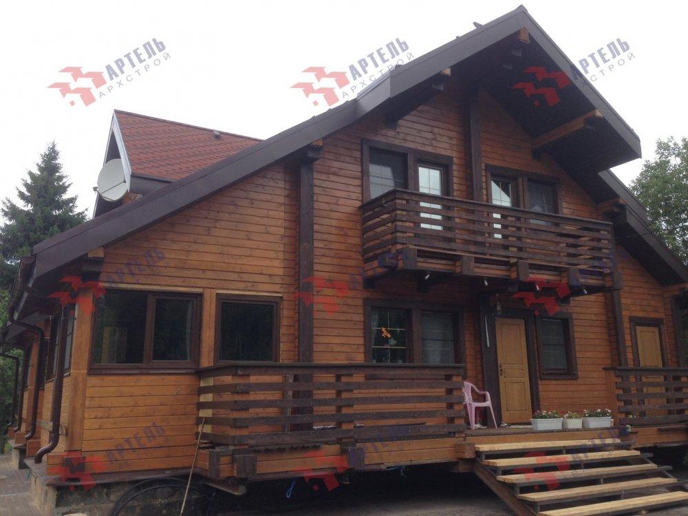 дом из профилированного бруса построенный по проекту Вариант 11 К фотография 5206