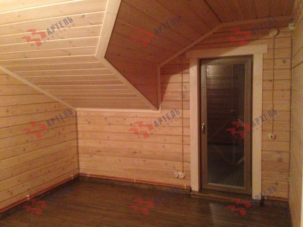 дом из профилированного бруса построенный по проекту Вариант 11 П фотография 5189