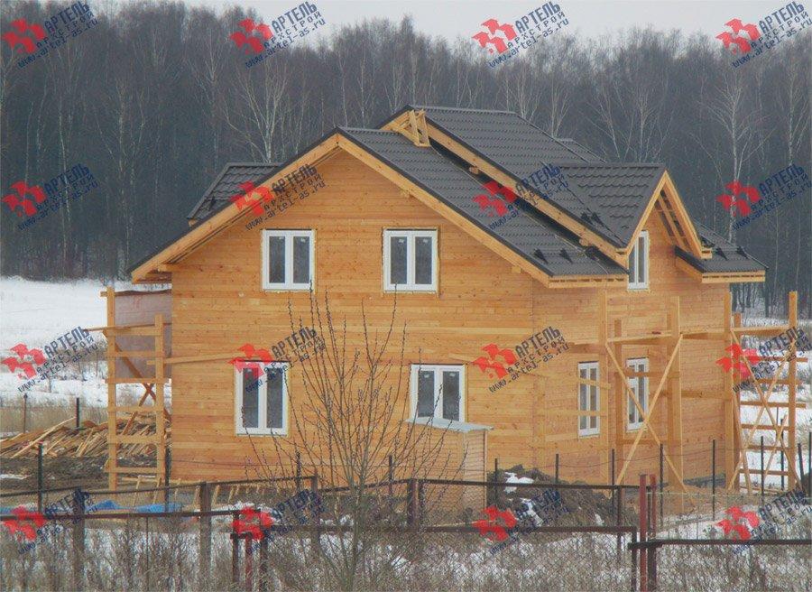 дом из бруса построенный по проекту Вариант 11 Л-2 фотография 3762