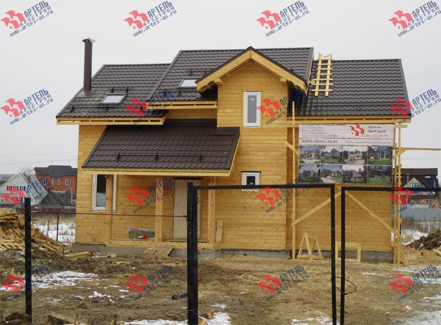дом из бруса построенный по проекту Вариант 11 Л-2 фотография 3764