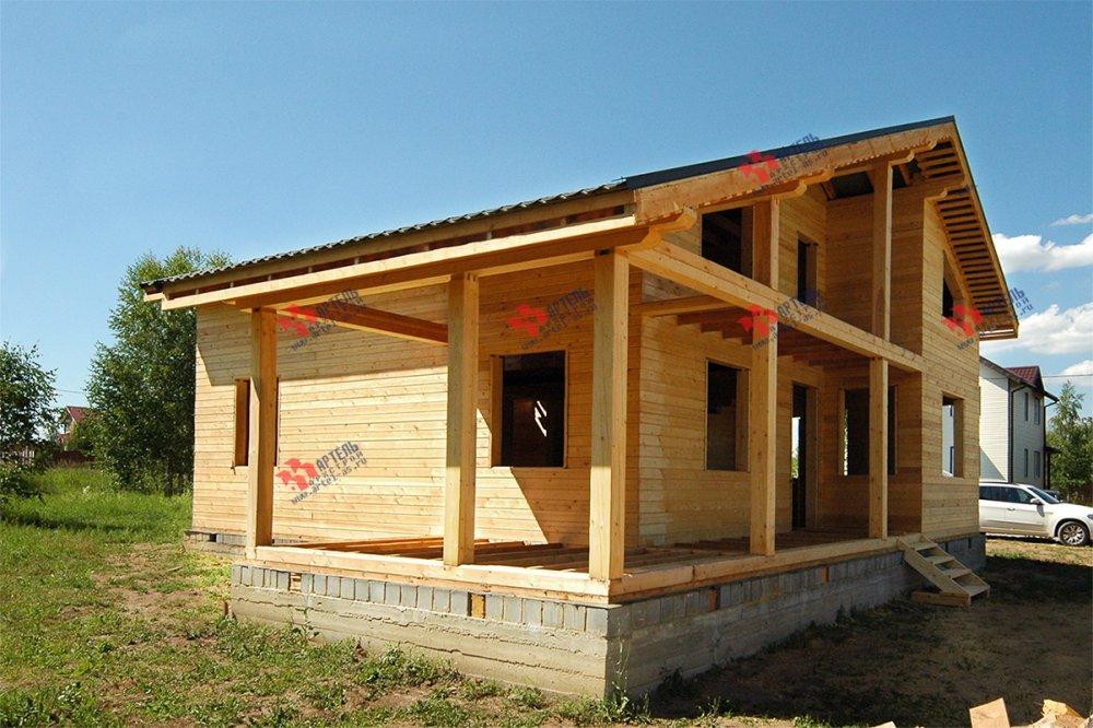 дом из профилированного бруса построенный по проекту Вариант 11 П фотография 3777
