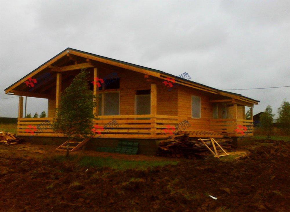 дом из профилированного бруса построенный по проекту Вариант 12.4 Б фотография 3966