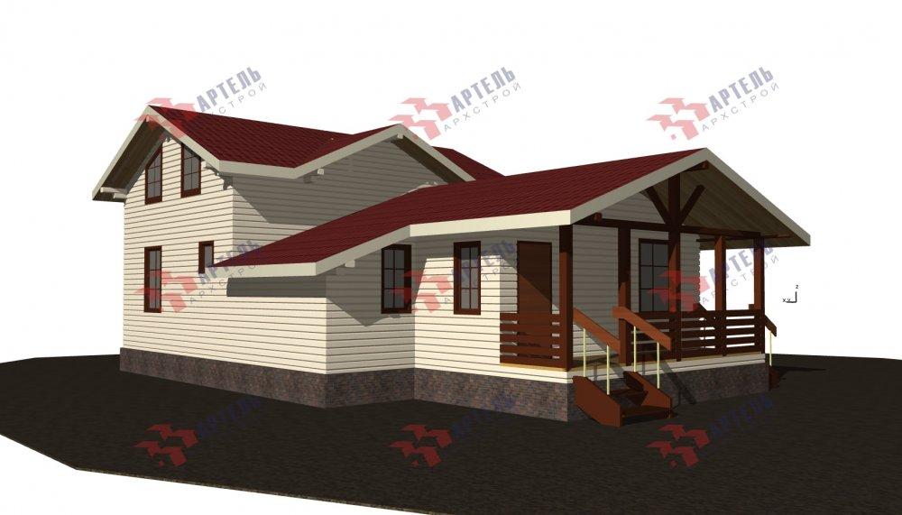 двухэтажный дом из бруса площадью от 100 до 150 кв. м., проект Вариант 13.3 А фотография 5227