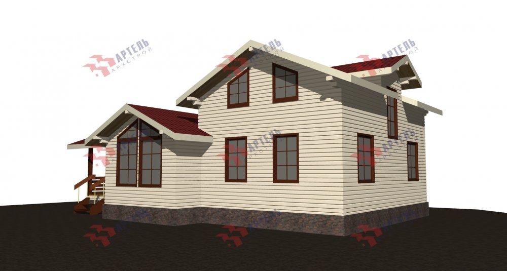 двухэтажный дом из бруса площадью от 100 до 150 кв. м., проект Вариант 13.3 А фотография 5228