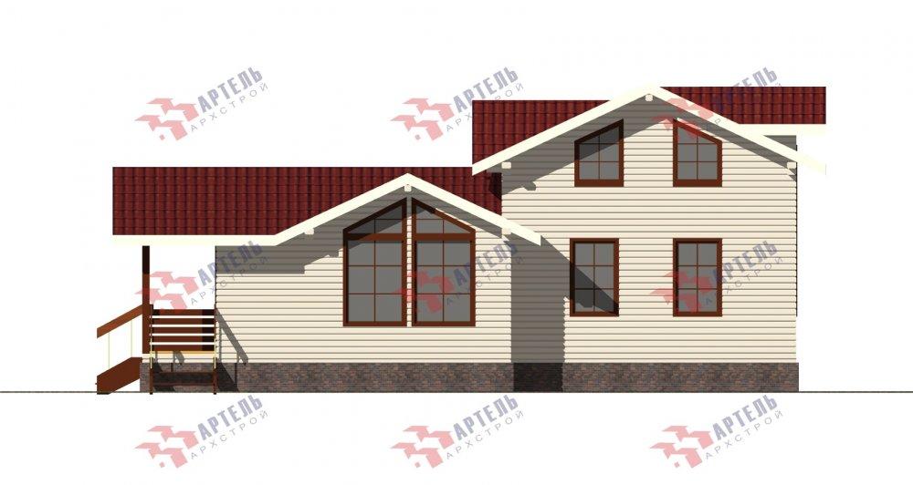 двухэтажный дом из бруса площадью от 100 до 150 кв. м., проект Вариант 13.3 А фотография 5231