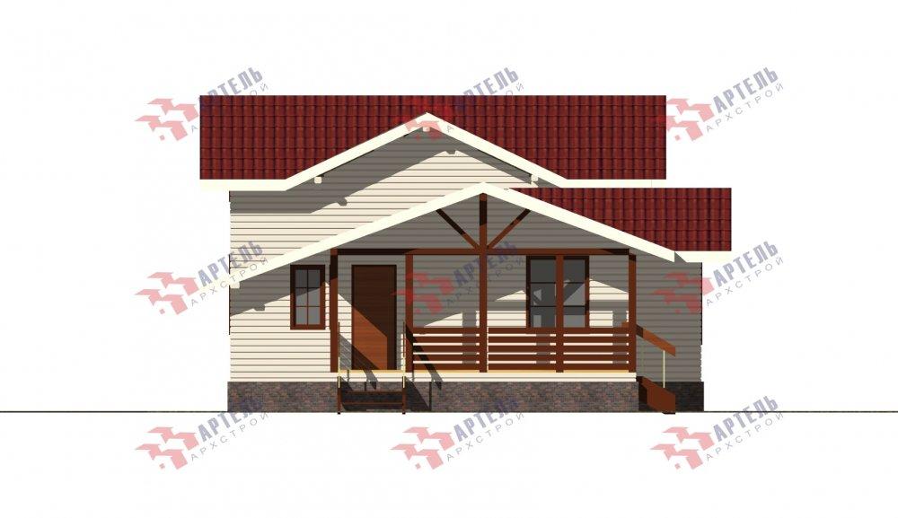 двухэтажный дом из бруса площадью от 100 до 150 кв. м., проект Вариант 13.3 А фотография 5232
