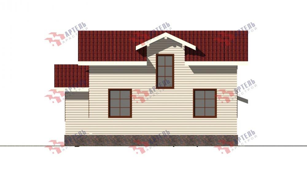 двухэтажный дом из бруса площадью от 100 до 150 кв. м., проект Вариант 13.3 А фотография 5234