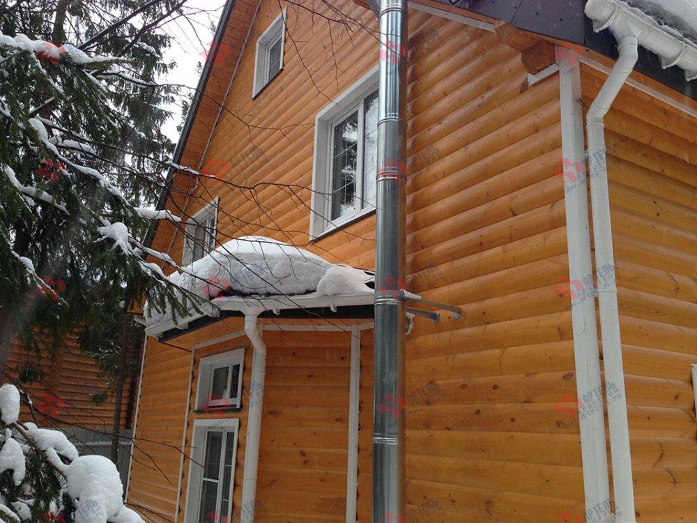 дом из бруса построенный по проекту Вариант 13.3 А фотография 4914