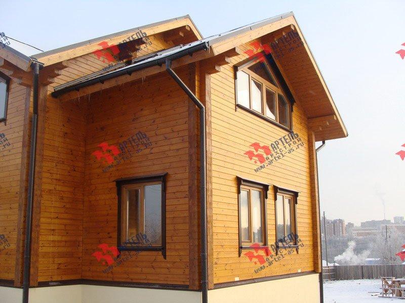 дом из профилированного бруса построенный по проекту Вариант 9.5 Т фотография 1820