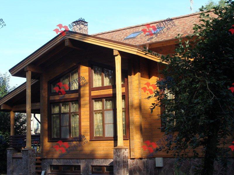 дом из бруса построенный по проекту Вариант 11.4 А фотография 1889