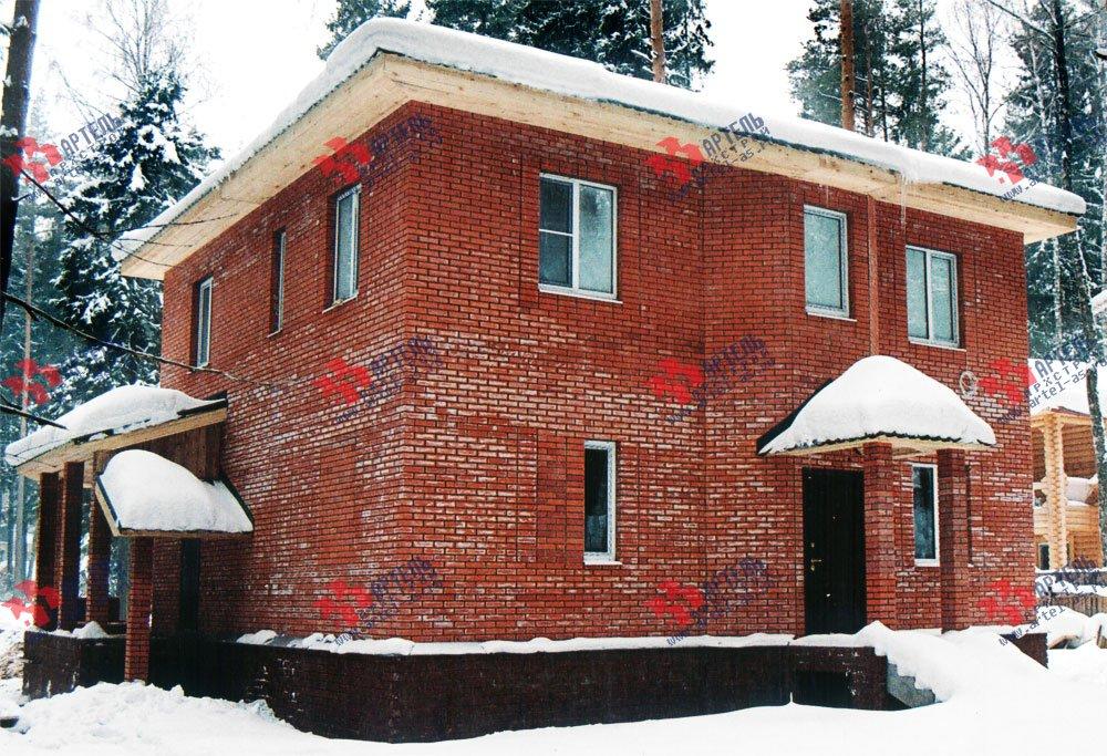 дом омбинированные дома построенный по проекту Вариант 10,6К Камень и Комбинированный фотография 6282