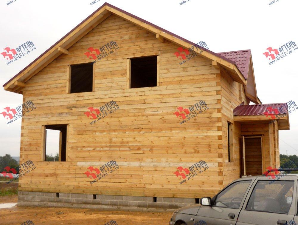 дом из бруса построенный по проекту Вариант 8 А-1 фотография 2560