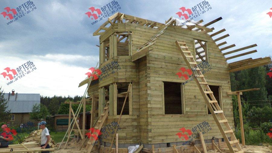 дом из профилированного бруса построенный по проекту Вариант 6 К фотография 3569