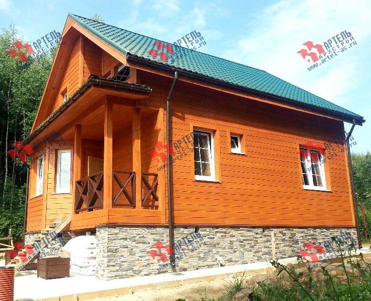 дом из бруса построенный по проекту Вариант 8.5 И фотография 3252