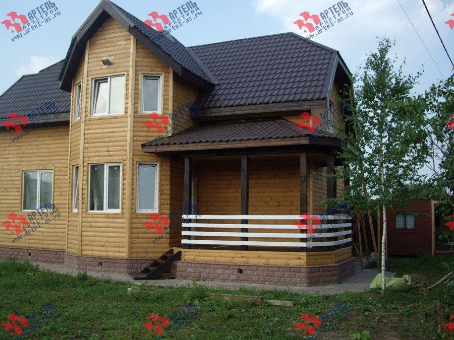 дом из бруса построенный по проекту Вариант 9.3 В фотография 3547