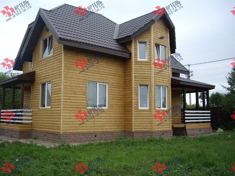 дом из бруса построенный по проекту Вариант 9.3 В фотография 3548