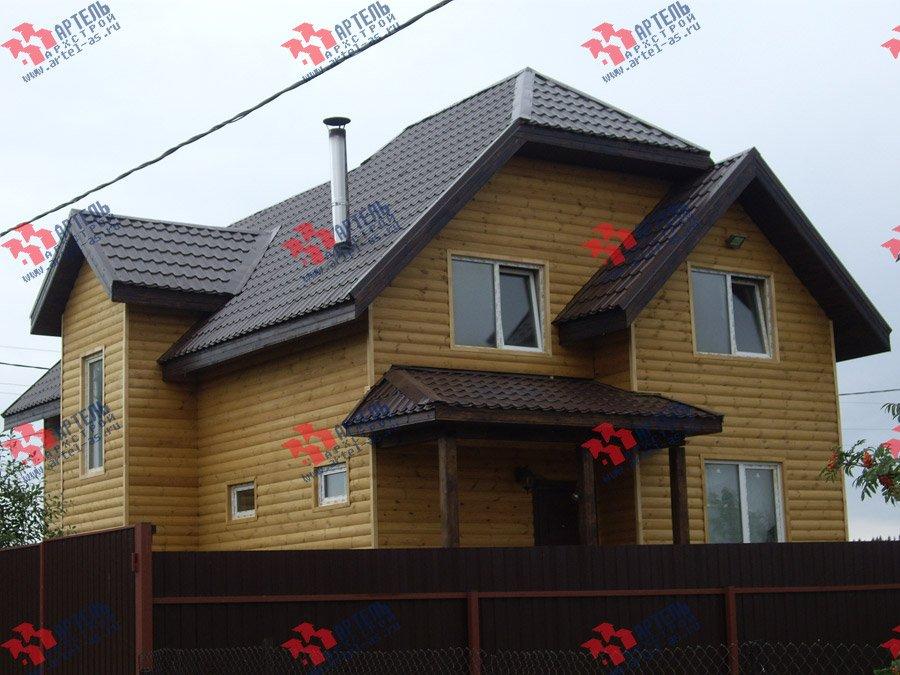 дом из бруса построенный по проекту Вариант 9.3 В фотография 3550