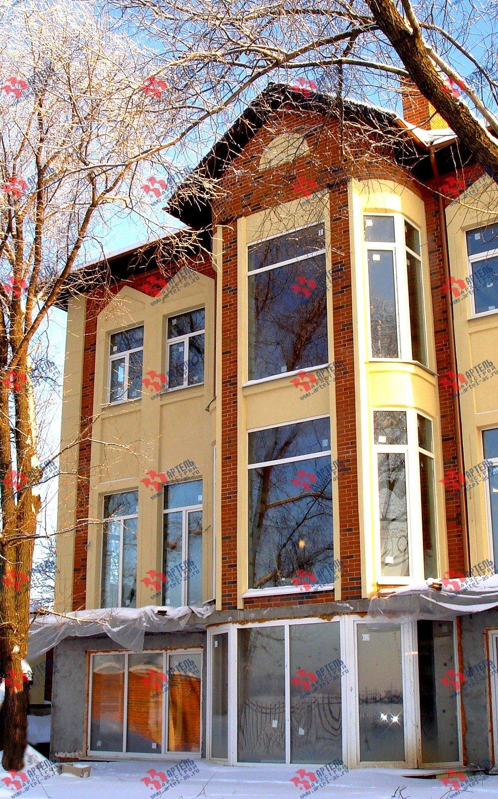 дом омбинированные дома построенный по проекту Вариант 10,6К Камень и Комбинированный фотография 1624